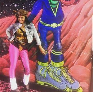 XXI Hot Pink 80's inspired Leggings